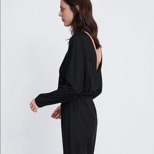 NWT ZARA OPEN BACK DRESS SIZE SMALL (BLACK)